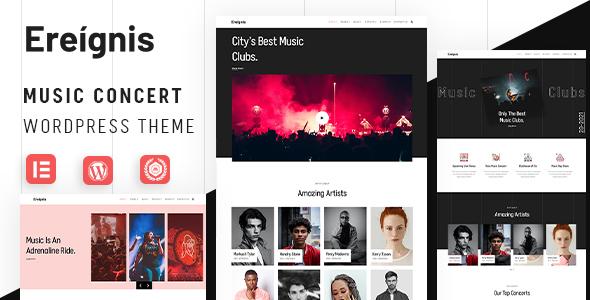 Music Concert WordPress Theme | Ereignis | Iqonic Design