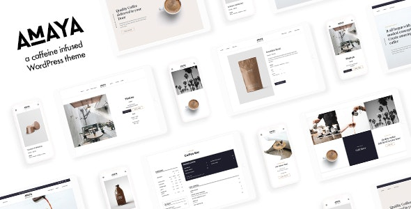 Amaya  15 Best WordPress Themes for Cafe to Create A Responsive Restaurant & Cafe Website in 2021 Amaya1