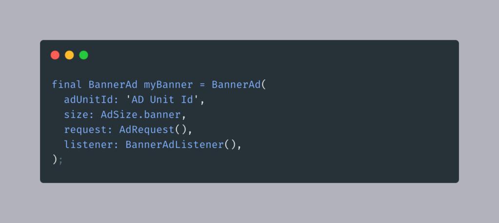 Baner Ad | Iqonic Design  App Monetization: How To Add Google Ads In Flutter App Banner Ad1 1024x458