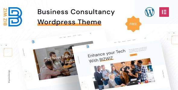Best Free WordPress Theme for Business Consultancy | Bizwiz | Iqonic Design  7 Best Free Elementor WordPress Themes for Online Business Bizwiz1 1