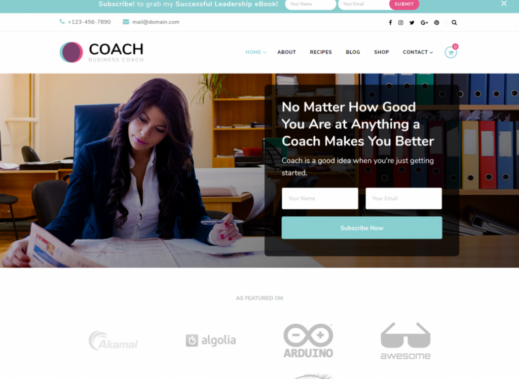 Blossom Coach  17 Best Free WordPress Themes for Business Consultancy 2021 Blossomthemes1 1024x748