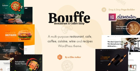 bauffe  15 Best WordPress Themes for Cafe to Create A Responsive Restaurant & Cafe Website in 2021 Bouffe1
