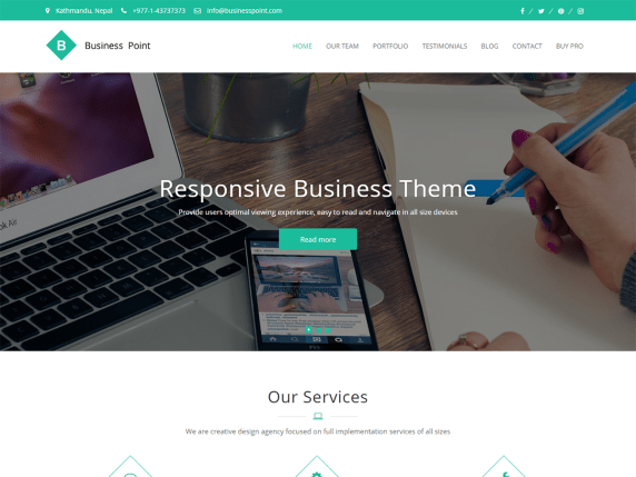 Business Point  17 Best Free WordPress Themes for Business Consultancy 2021 Business Point1