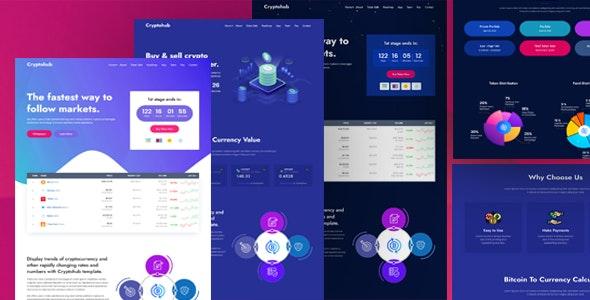 Cryptohub  Top 5 Cryptocurrency ICO HTML Templates To Start Trading Crypto Business Now! Cryptohub1