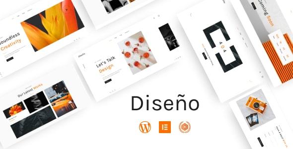 Best Free WordPress Theme For Designer Portfolio   Diseno   Iqonic Design  Introducing the Iqonic Themes – Best Free WordPress Themes by Iqonic Design Diseno1