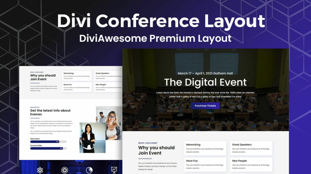 Divi  8 Modern and Flexible Event Conference WordPress Themes For Digital Entrepreneurs Divi1 1024x572