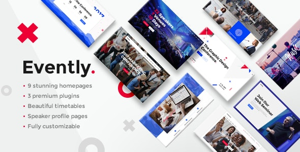 Evently  8 Modern and Flexible Event Conference WordPress Themes For Digital Entrepreneurs Evently1