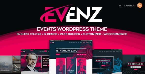 Evenz  8 Modern and Flexible Event Conference WordPress Themes For Digital Entrepreneurs Evenz1
