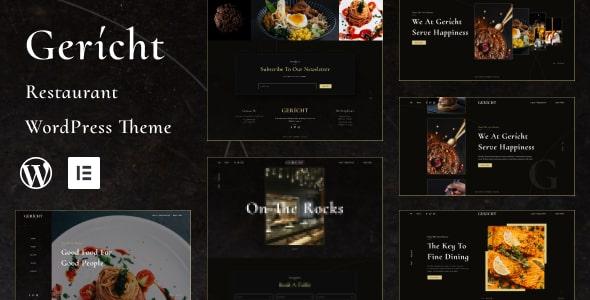 Best Free WordPress theme for Restaurant | Gericht | Iqonic Design