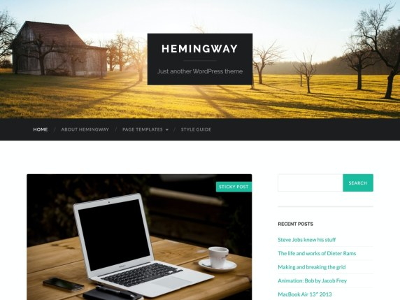 Hemingway  17 Best Free WordPress Themes for Business Consultancy 2021 Hemingway1