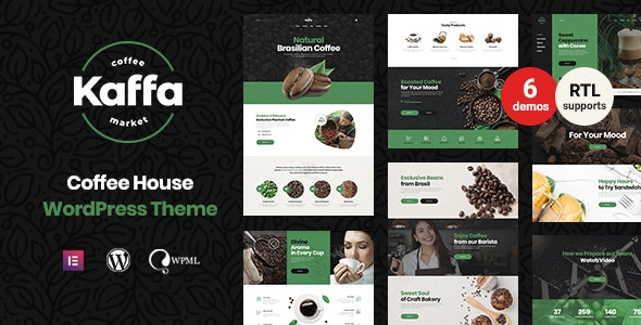 Kaffa  15 Best WordPress Themes for Cafe to Create A Responsive Restaurant & Cafe Website in 2021 Kaffa1