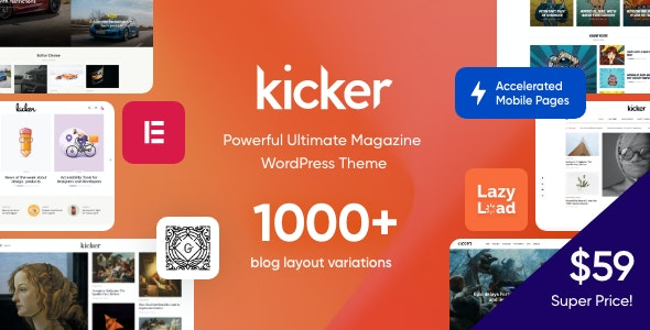 Kicker  15 Best Multipurpose WordPress Themes To Save You Big For Future Projects Kicker1