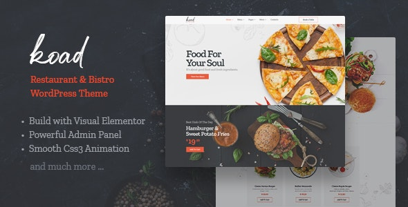 Koad  15 Best WordPress Themes for Cafe to Create A Responsive Restaurant & Cafe Website in 2021 Koad1