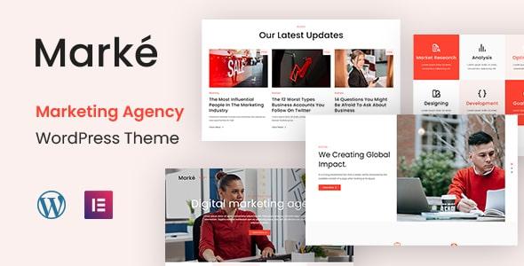 Best Free WordPress Theme for Marketing Agency   Marke   Iqonic Design  Top 11 Best Free WordPress Themes for Marketing Agency 2021 Marke1