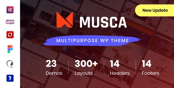 Musca  15 Best Multipurpose WordPress Themes To Save You Big For Future Projects Musca1