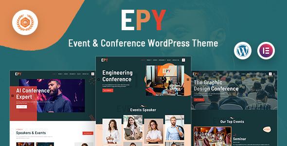 Event Conference WordPress Theme | EPY | Iqonic Design  8 Modern and Flexible Event Conference WordPress Themes For Digital Entrepreneurs Nairobi WordPress1