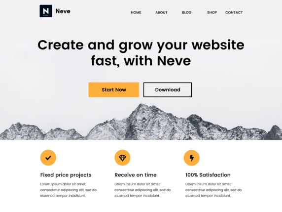 Neve  7 Best Free Elementor WordPress Themes for Online Business Neve1