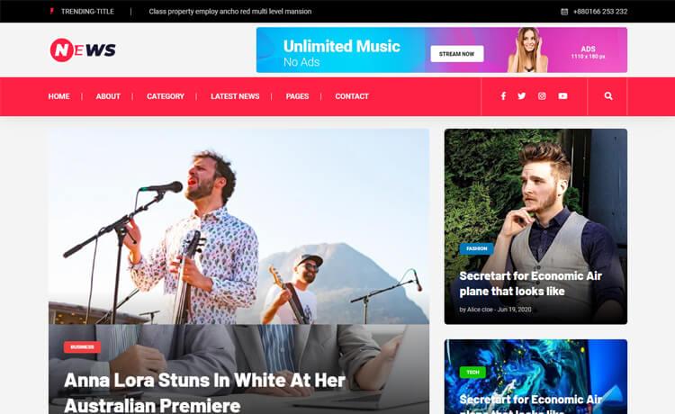 10 Industry-Niche Best Free HTML5 Website Templates in 2021 News1