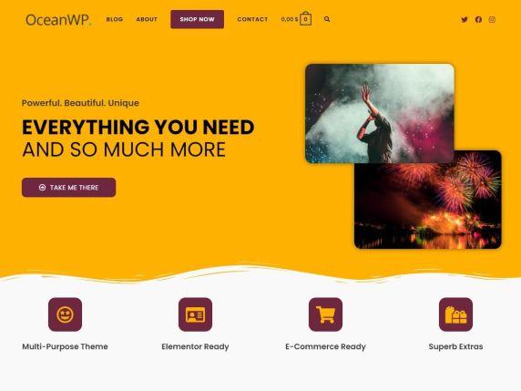 OceanWP  7 Best Free Elementor WordPress Themes for Online Business OceanWP1