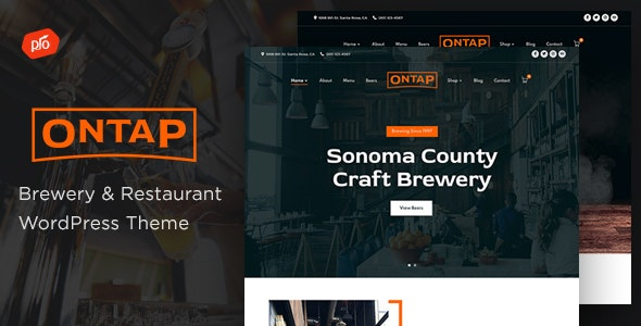 Ontap  15 Best WordPress Themes for Cafe to Create A Responsive Restaurant & Cafe Website in 2021 Ontap1