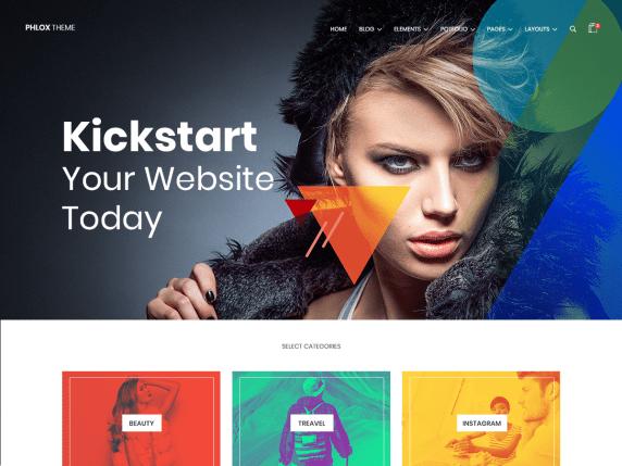 Phlox  7 Best Free Elementor WordPress Themes for Online Business Phlox1