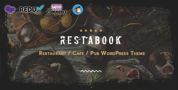 Restabook  15 Best WordPress Themes for Cafe to Create A Responsive Restaurant & Cafe Website in 2021 Restabook1