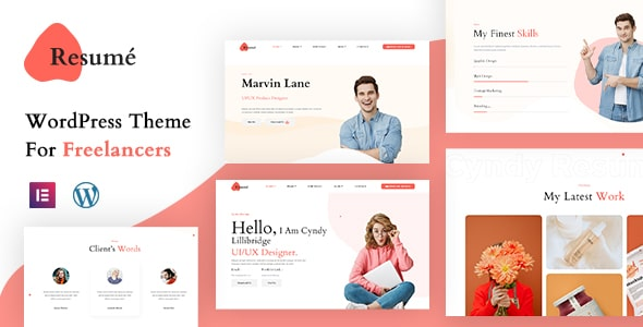 Best Free WordPress Theme For Freelancers   Resume   Iqonic Design  Introducing the Iqonic Themes – Best Free WordPress Themes by Iqonic Design Resume1