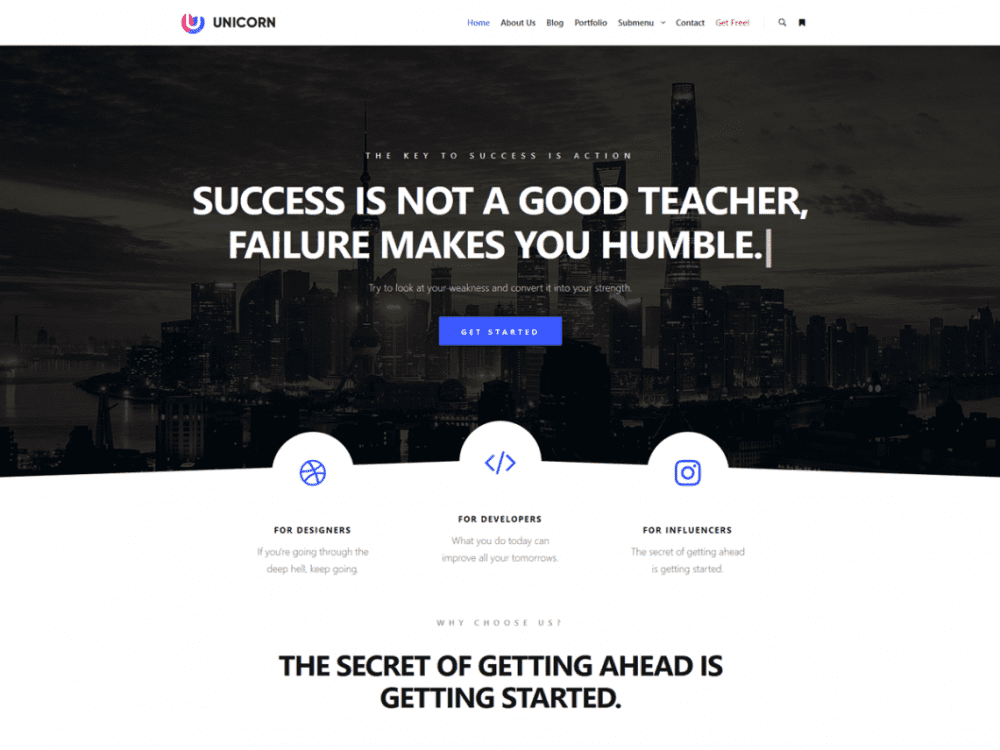 Rife Free  7 Best Free Elementor WordPress Themes for Online Business Rife Free1