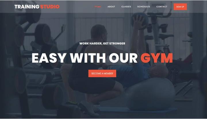 Training Studio  10 Industry-Niche Best Free HTML5 Website Templates in 2021 Screenshot 1 min 3