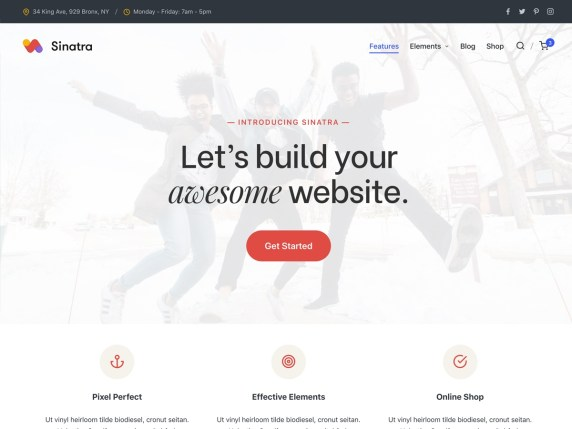 Sinatra  17 Best Free WordPress Themes for Business Consultancy 2021 Sinatra1