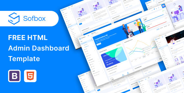 Free HTML admin Dashboard template | Sofbox Admin Lite | Iqonic Design  12+ Free Bootstrap Admin Templates and Dashboard UI Kits for Web Developers Sofbox Small preview