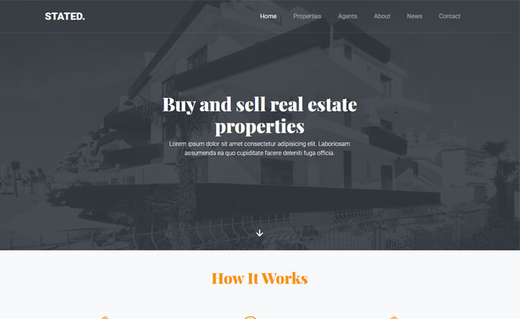 Stated  10 Industry-Niche Best Free HTML5 Website Templates in 2021 Stated1