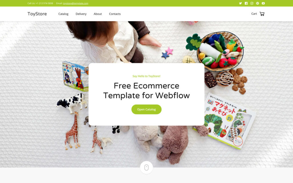 10 Industry-Niche Best Free HTML5 Website Templates in 2021 Toystore1 1024x640