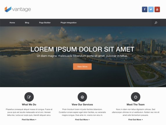 Vantage  17 Best Free WordPress Themes for Business Consultancy 2021 Vantage1
