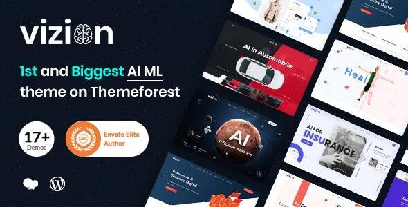 AI, Tech and Software Startups WordPress Theme | Vizion | Iqonic Design  15 Best Multipurpose WordPress Themes To Save You Big For Future Projects Vizion1