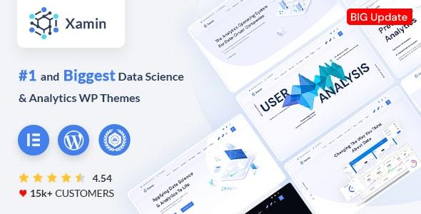 Data Science and Analytics Saas WordPress Theme | Xamin | Iqonic Design  15 Best Multipurpose WordPress Themes To Save You Big For Future Projects Xamin WordPress1 min 2