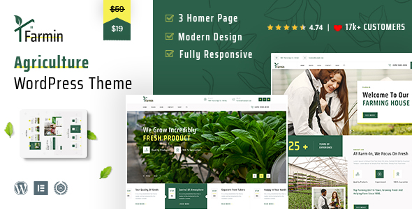 Farming WordPress Theme | Farmin | Iqonic Design