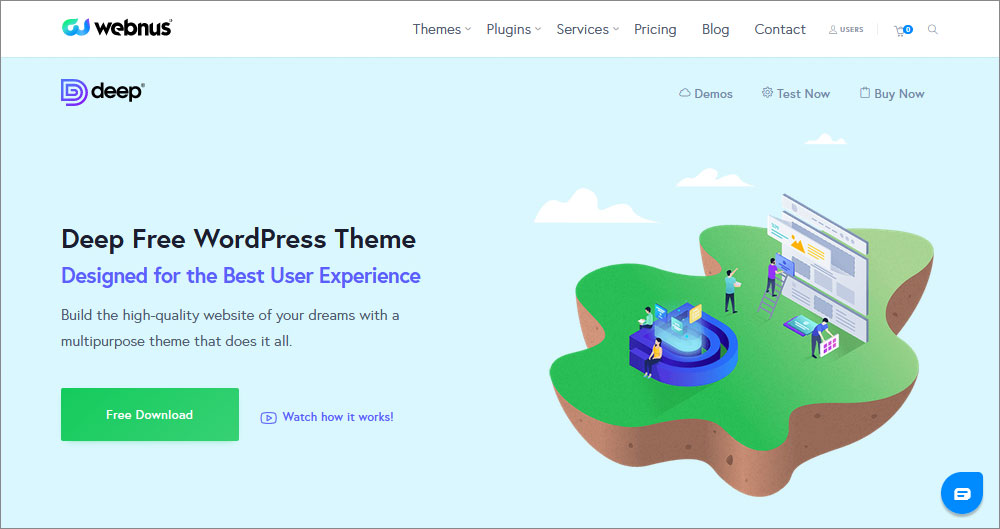 Deep  12 Best Free WordPress Themes of 2021 (Chosen by Experts) 11 Deep