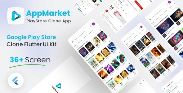 Free Google Play Store Clone Flutter UI Kit   AppMarket   Iqonic Design  8+ Best Flutter UI Kits Free (UI Kits and Templates) App Market1