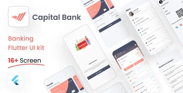 Banking Flutter UI Kit Free   Banking App   Iqonic Design  8+ Best Flutter UI Kits Free (UI Kits and Templates) Banking App1