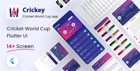 Live Cricket Score Flutter UI Kit Free   Crickey   Iqonic Design  8+ Best Flutter UI Kits Free (UI Kits and Templates) Crickey1 1