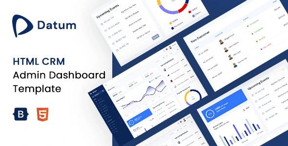 ree CRM HTML Admin Dashboard Template | Datum Lite | Iqonic Design  3 Impressive Admin Templates & Trending UI kits to Exponentially Boost your Productivity Datum Lite1 1