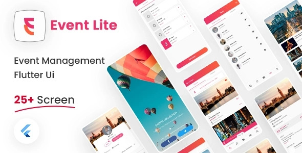 Event Management Flutter UI Kit Free   Event Lite   Iqonic Design  8+ Best Flutter UI Kits Free (UI Kits and Templates) Event Lite1