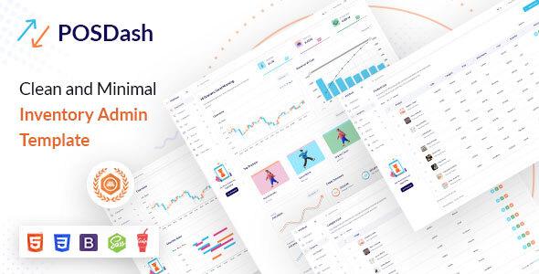 Free HTML Inventory Admin Template | PosDash Lite | Iqonic Design  3 Impressive Admin Templates & Trending UI kits to Exponentially Boost your Productivity PosDash Lite1