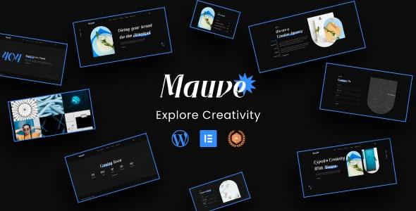 Best Free WordPress theme for Portfolio | Mauve Lite | Iqonic Design