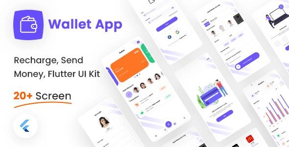 Recharge and Money Transfer Flutter UI Kit Free   Wallet App Lite   Iqonic Design  8+ Best Flutter UI Kits Free (UI Kits and Templates) Wallet App Lite1 1