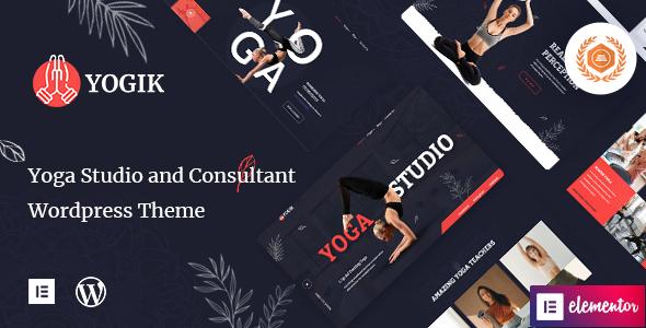 Free Yoga Studio WordPress Theme | Yogik | Iqonic Design  12 Best Free WordPress Themes of 2021 (Chosen by Experts) Yogik1