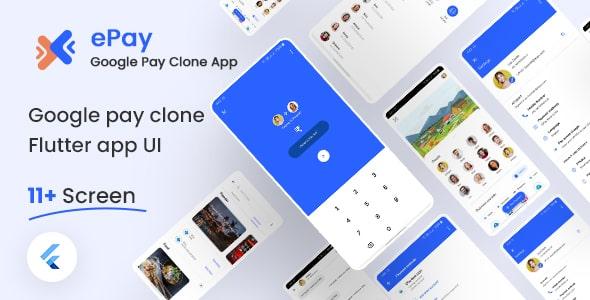 Free Google Pay Clone Flutter UI Kit   ePay   Iqonic Design  8+ Best Flutter UI Kits Free (UI Kits and Templates) epay1