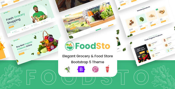 Grocery and Food Store HBS SCSS and HTML Theme | FoodSto | Iqonic Design