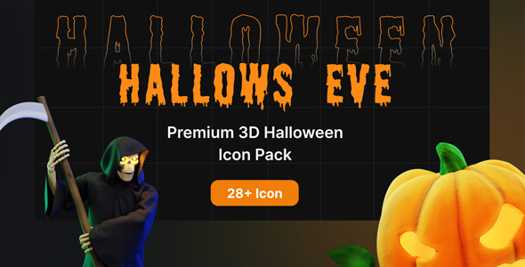Premium Halloween 3D Icon Pack | Hallows Eve Pro | Iqonic Design  Top 5 Rejuvenating 3D Icon Assets to Make Your Website Attractive halloween small preview